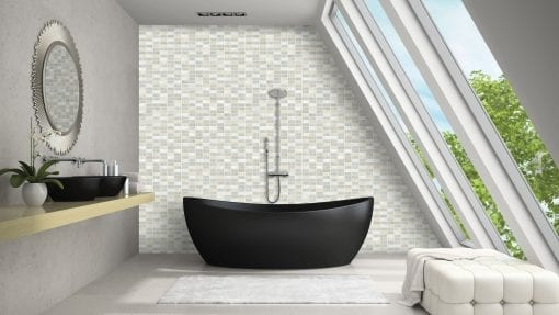 mosaic tile effect PVC wall panel