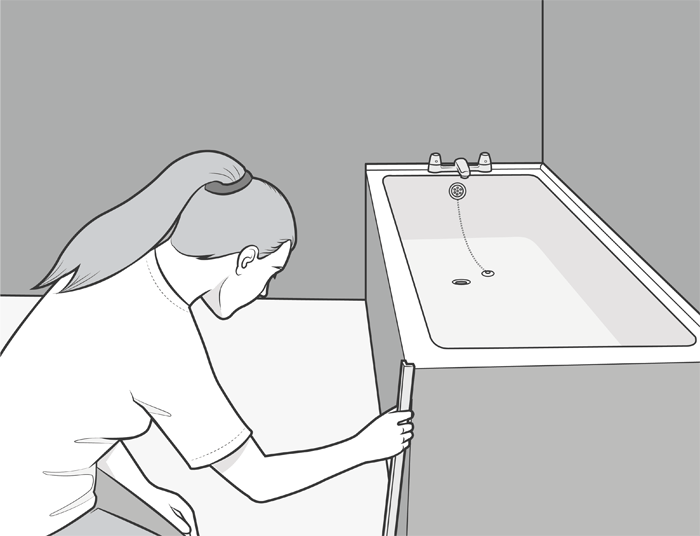 adding a finishing trim to your bath panel