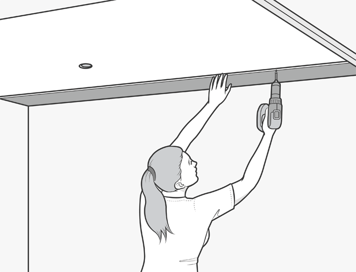 how to install pvc ceiling panels