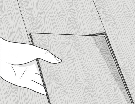 laying a vinyl floor