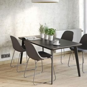 Clever Click flooring can be used in dining rooms