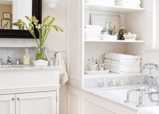 Add plants to a bathroom for a revamp