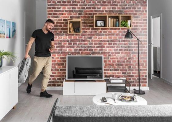 Using brick effect wall panels