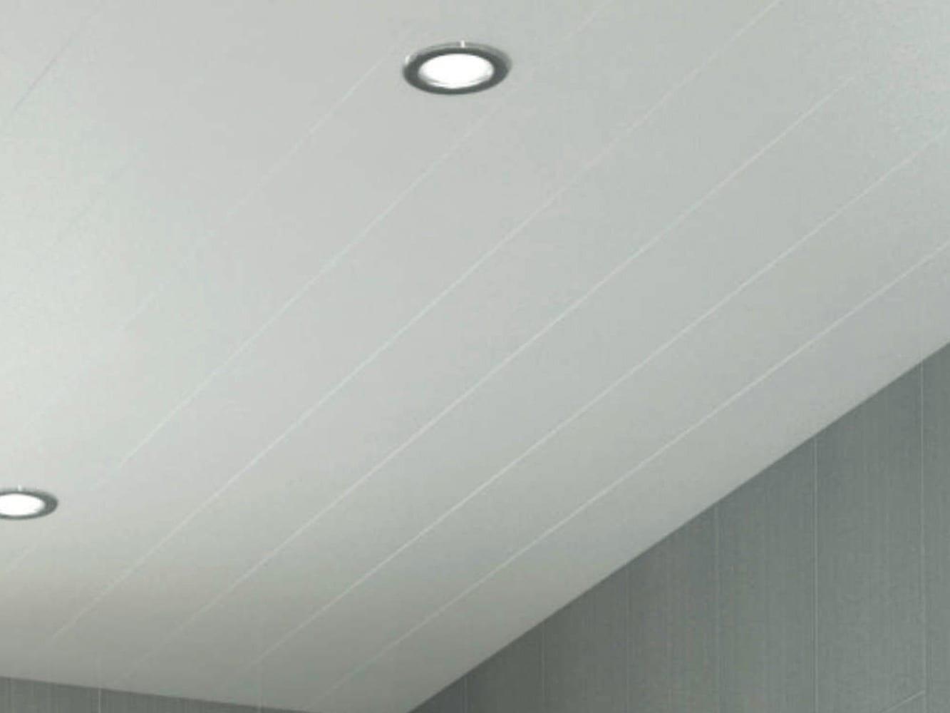 Wood effect bathroom ceiling panels